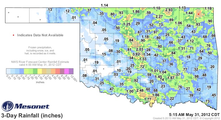 Oklahoma Wind Map.Oklahoma Farm Report Rainfall Totals For This Week Across Oklahoma